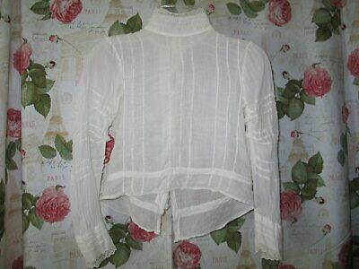 Sweet Antique Edwardian Blouse~Vintage Blouse Bobbin Lace~Girls Blouse
