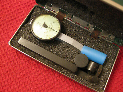 "Vintage Federal Testmaster Dial Indicator  T-1 NM .001"" Grads Full Jeweled Box"