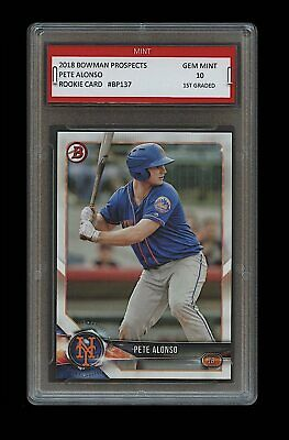 PETER ALONSO 2018 BOWMAN PROSPECTS Topps 1ST GRADED 10 ROOKIE CARD RC METS Pete