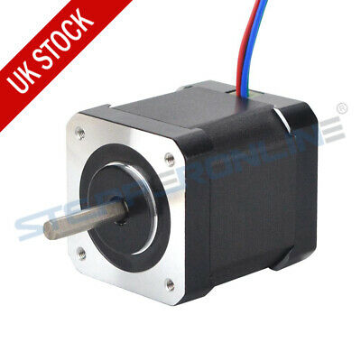 0.9 deg Nema17 Stepper Motor 46Ncm 2A 48mm Full D-cut 4-Wire 3D Printer Extruder