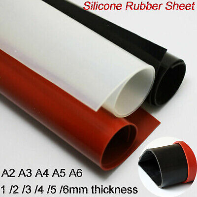 A2 A3 A4 A5 A6 Silicone Rubber Plate Sheet Mat for DIY Craft 1 2 3 4 5 6mm thick
