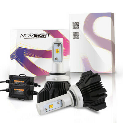 NOVSIGHT 9006 HB4 LED Headlight Kit Light Bulbs Dual Color 8000LM 3000K&6500K AU