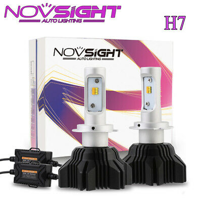 NOVSIGHT H7 PX26D 40W LED Headlight Kit Light Bulb Car Driving Lamp 3000K&6500K