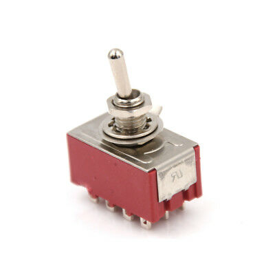 2A250VAC 5A125VAC 12 Pin 4PDT ON/ON 2 Position Mini Toggle Switch MTS-402 AS