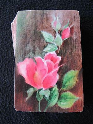 VINTAGE 1970's PACK OF HALLMARK PLAYING CARDS - PINK ROSES