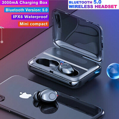 TWS Wireless Headphones Mini True Bluetooth 5.0 Stereo Earphones In-Ear Headset