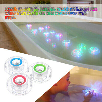 3X Fun Bathroom Tub LED Light Color Changing Kids Toys Waterproof In Bath Time