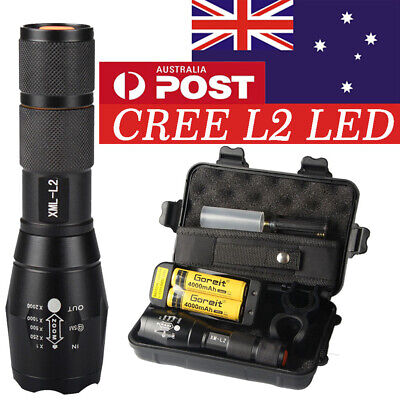AU 20000lm Rechargeable Tactical Flashlight CREE L2 LED Torch