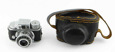 HIT Kleinstbildkamera 14x14 mit Ledertasche - Tougo-Do Optical Miniature camera