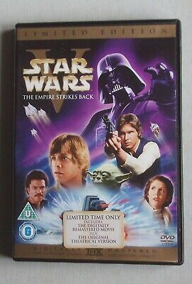 STAR WARS THE EMPIRE STRIKES BACK Remastered & Theatrical 2 disc Limited Ed.