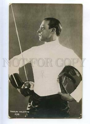 216363 Rudolph VALENTINO Italian MOVIE Actor FENCING old PHOTO