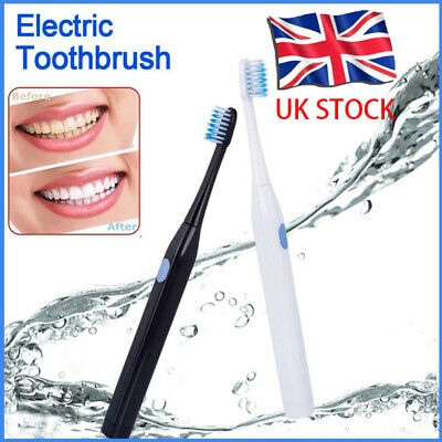 Portable Safety Electric Toothbrush sonic Teeth Brush Uk Stock