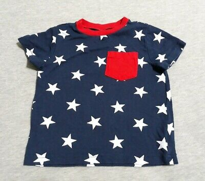 Baby Boys Shirt Short Sleeves 4 Of July Okie Dokie Size 18 Months Free Shipping