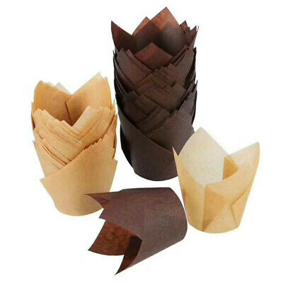 50pcs Flower Paper Cake Cupcake Liner Case Wrapper Muffin Baking Cup Party