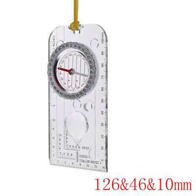Multifunction Map Compass Outdoor Navigation Camping Hiking Survival Equipment *