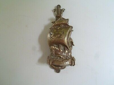 Fab Reclaimed Vintage Brass Door Knocker GALLEON SHIP - THE ARGOSY