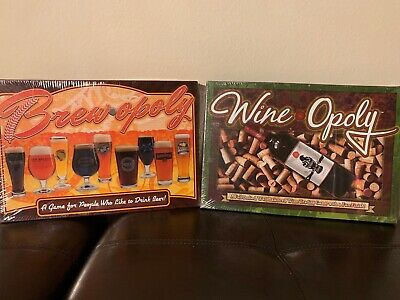 Brewopoly & Wineopoly Board Games New & Both Factory Sealed