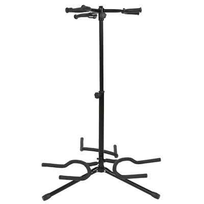Glarry Tubular Acoustic/Electric Bass Guitar Stand Holder Black-NEW