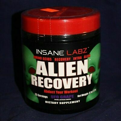 INSANE LABZ | ALIEN RECOVERY Pre & Post Workout | 35 servings | UFO GRAPE