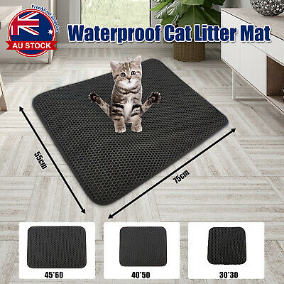 Double Layer Cat Litter Tray Trap Mat Catch Cat Litter House Box Pad Toilet L