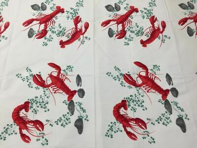 Vintage Wilendur Lobster Tablecloth  – Exc Cond - Large - Featured in Books