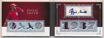 OZZIE SMITH 2009 Topps Sterling Seasons AUTO 8x JERSEY PATCH RELIC /10 CARDINALS