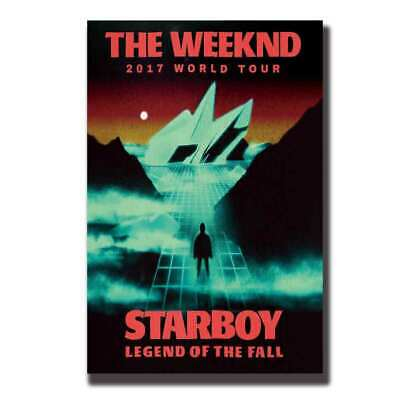 V474 Art canvas Poster The Weeknd 2017 World Tour Starboy Music print decor24x36