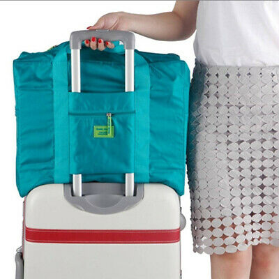 Portable Foldable Travel Luggage Baggage Storage Carry-On Duffle Bag Flight Bag