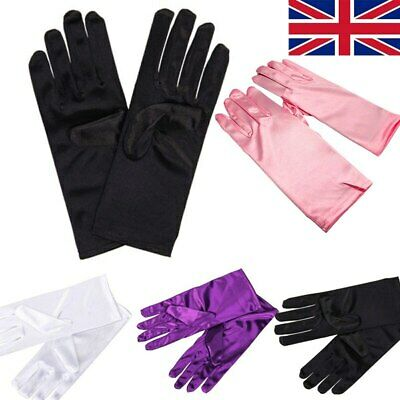 Ladies Womens Short Satin Style Gloves Party Wedding Party Fancy Dress Costume