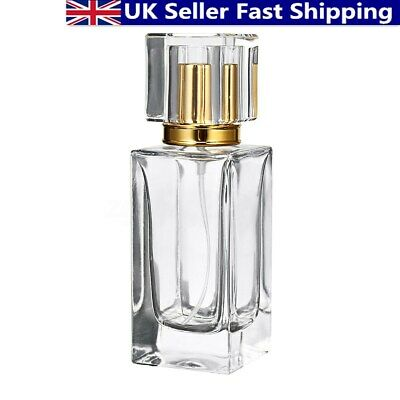 50ml Empty Glass Perfume Aftershave Atomizer Atomiser Bottle Refillable Spray