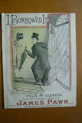 Victorian Sheet Music 'I Borrowed It' 4 Pages - H.g.banks