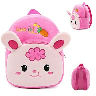 Kids Plush Baby Toddler Cute Animal School Bag Mini Ultra Soft Backpack 1-3 Yrs