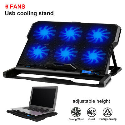 "Laptop Cooler Pad USB 6 Fans CPU Coolers Radiator Cooling Stand For 14-17"" Inch"