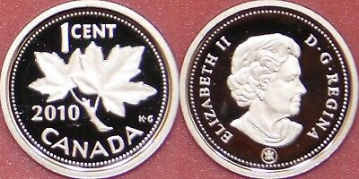 Proof 2010 Canada 1 Cent From Mint's Set