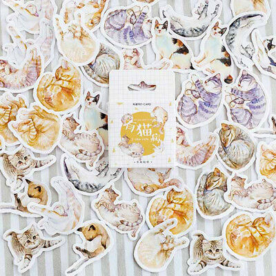 45pcs lovely cats paper sticker diy diary decor for album scrapbooking FB*