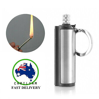 WEATHER PROOF PREMIUM Permanent Metal Match Box Lighters Cigarette Camping Tent