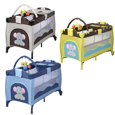Baby Portable Travel Cot Crib All In1 Bassinet Playpen Portacot Infant Sleep bed