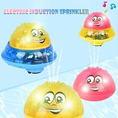 Children Kid Electric Induction Sprinkler Water Spray Toy Light Baby Bath Toys