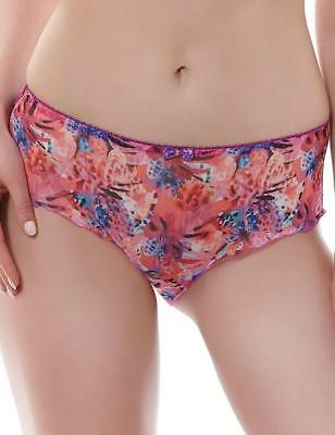 FREYA ELEANOR SHORT BRIEF SIZE XS 8 10 RUBY RED SHEER KNICKERS PANTS 5782 NEW