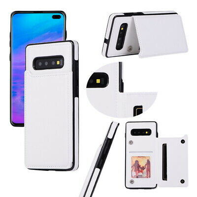 For Samsung Galaxy S10 S9 S8 Plus Note 9 Slim Flip Card Slot Leather Case Cover