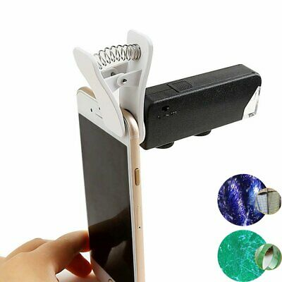 60-100X Zoom Mobile Phone Camera Optical LED Clip Magnifier Microscope Micro Len