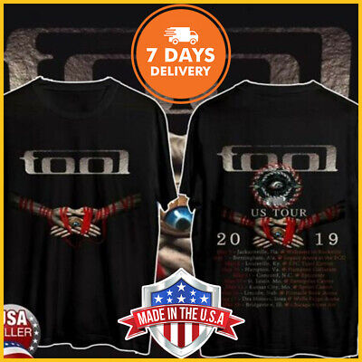 Tool Band US Tour 2019 With Dates T-Shirt Mussic Unisex Shirt Black S-6XL Limit!