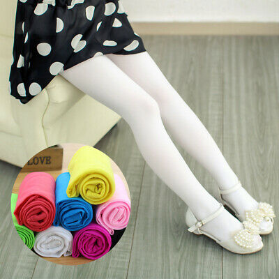 Girls Velvet Pantyhose Pants Stockings Foot Tights Dancing Socks Kid Hose Ballet
