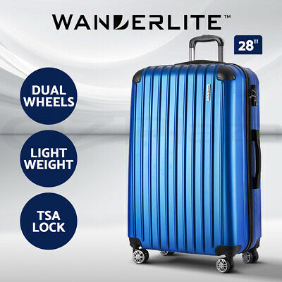 "Wanderlite 28"" Luggage Sets Suitcase Trolley TSA Travel Hard Case Lightweight"