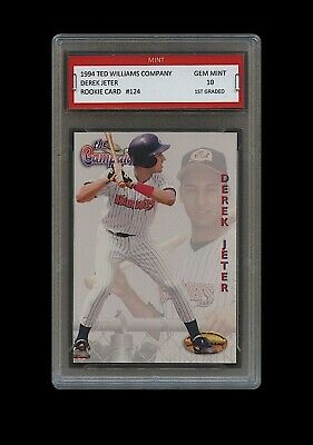 Derek Jeter 1994 Ted Williams Company 1St Graded 10 Rookie Card Rc Ny Yankees