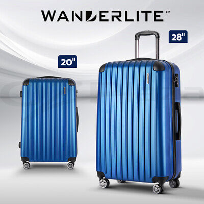 "Wanderlite 20"" Luggage Sets Suitcase Trolley Travel Hard Case Lightweight"