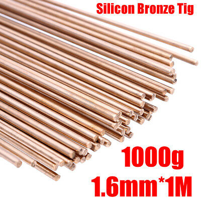 "100cm/39.4"" 50000 PSI 1000g Silicon Bronze Brass Tig 1.6mm Dia Brazing Rods Weld"
