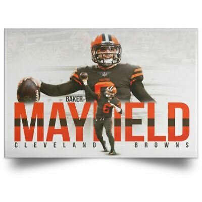 NEW Baker Mayfield Cleveland Browns Posters NFL Football Season 2019 100th Decor