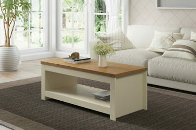 Winchester Classic Traditional Modern Simple Cream & Oak Wooden Coffee Table