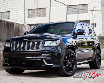 22x9 Wheels For Jeep Grand Cherokee Wrangler Srt8 5x127 Black 22 Inch Rims Set 999 00 Picclick